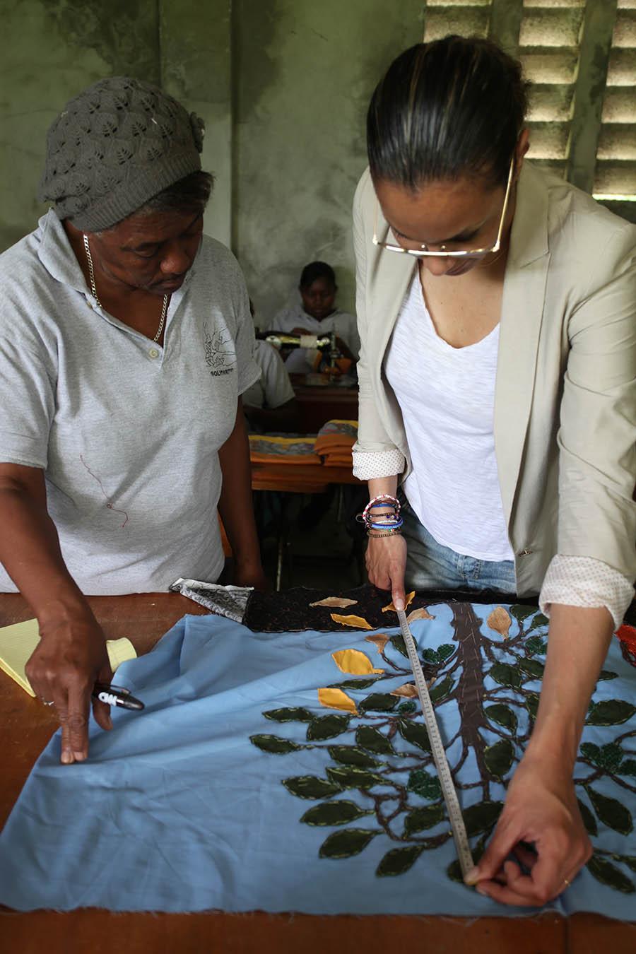 Griot Magazine-Stella JEan in Haiti - Ethical Fashion Initiative