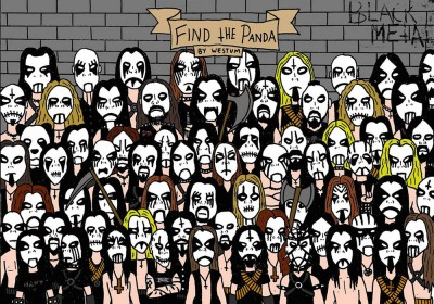 Riuscite a trovare il panda in mezzo a questi metallari?