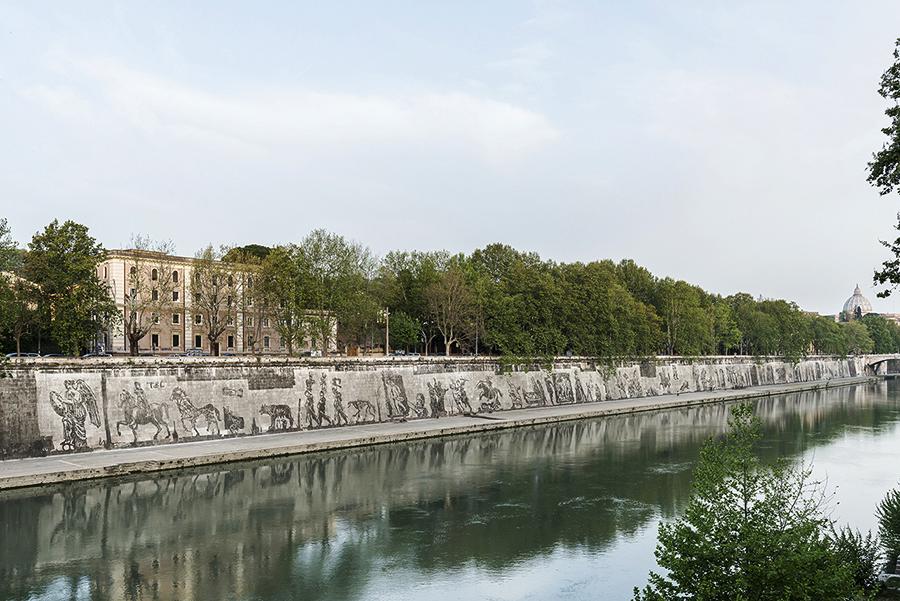 griot-mag-Triumphs and Laments | William Kentridge-Philip-Miller-Rome's Birthday-Tevereterno-Kristin-Jones-photo by Sebastiano Luciano 1