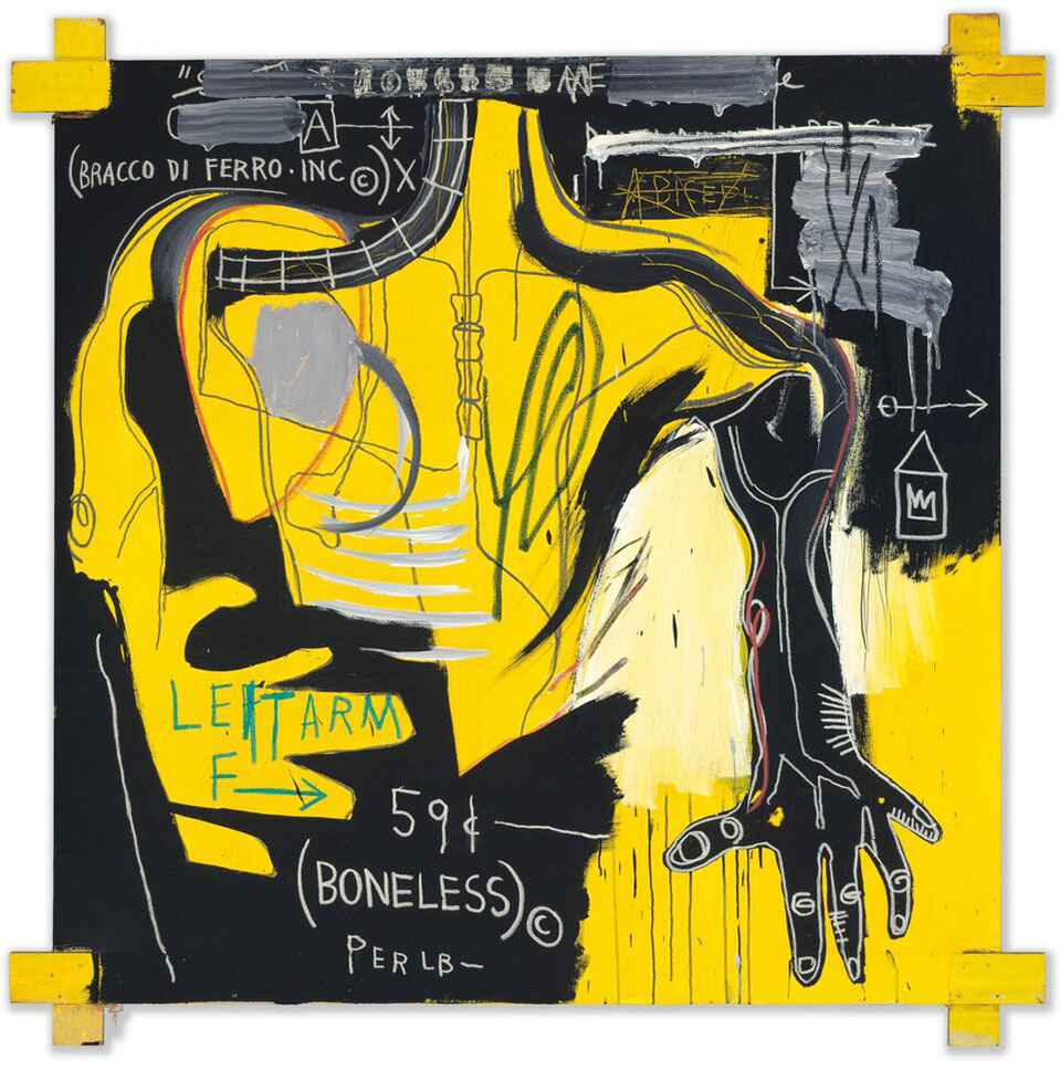 griot-mag-radiant-child-al-mudec-mostra-Basquiat-Senza-Titolo-Braccio-di-Ferro-1983