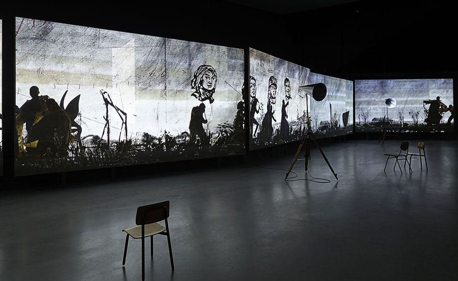 griot-mag- Africa Now! | Paris The African breeze is blowing on our souls - More Sweetly Play the Dance (2015), William Kentridge via