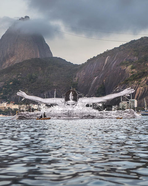 griot-mag-incontro con JR | Chroniques de Clichy-Montfermeil, l'artista ci racconta la sua ultima fatica-Botafogo Bay in Rio-rio-de-janeiro-brasile-olimpiadi