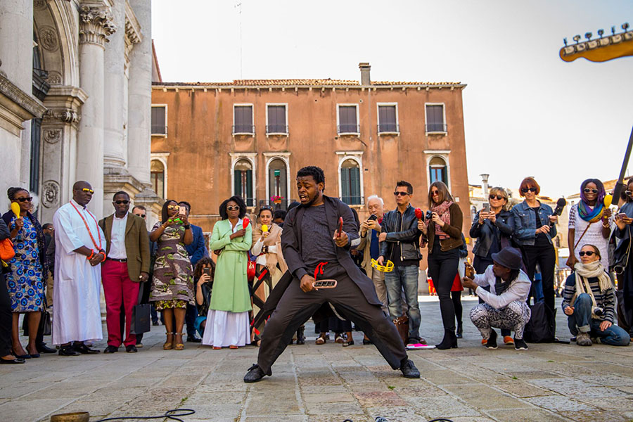 griot-mag-_Victor Ehikhamenor- on the first Nigerian Pavilon at Venice Biennale and Damien Hirst's cultural appropriation-Qudus Onikeku creates movement identity that fuses dance and acrobatics