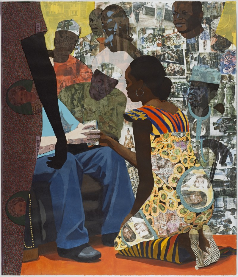 griot-mag-Victor- Ehikhamenor on the first Nigerian Pavilon at Venice Biennale and Damien Hirst's Nigerian appropriation-Wedding Portrait (2012), Njideka Akunyili