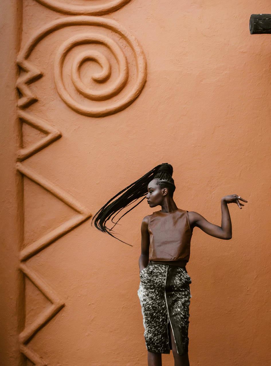 griot mag Model Juliet Kiruhi_Outfit M+K (Muqaddam Latif and Keith Macharia)_Photo by Maganga Mwagogo