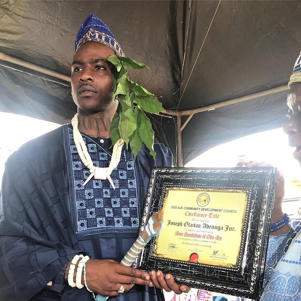 Skepta is now a Chief in Ogun State, Nigeria