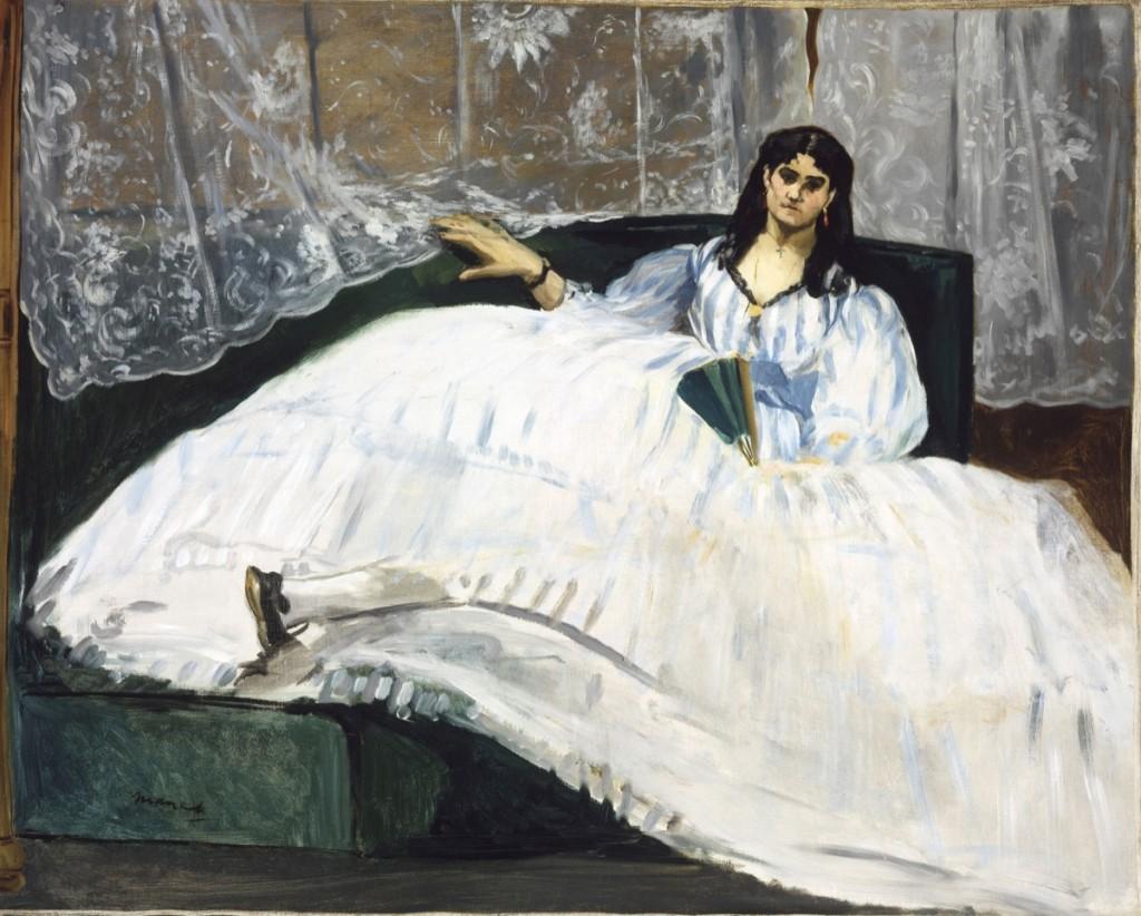 Jeanne Duval, Baudelaire's Mistress, Reclining (1862), Edouard Manet, via