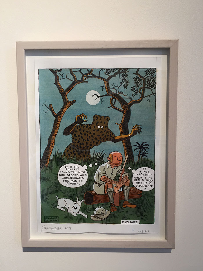 Homage to Hergé, Anton Kannemeyer