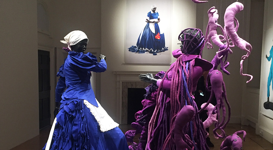Blue, purple, red | Women, blackness, injustice and revoultion in Mary Sibande's Uk solo show