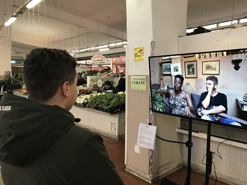 griot mag (Memorie) In Ascolto, installazione video a cinque canali – Technoir (2017)