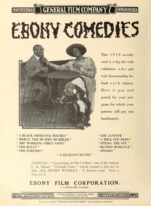 Poster della Ebony Film - via