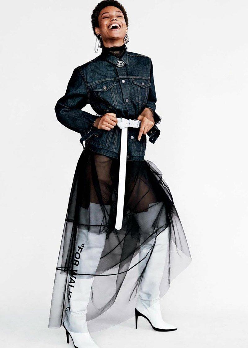 griot mag Ebonee _Davis, Kenya Kinski-Jone Afrodita Dorado per Glamour America