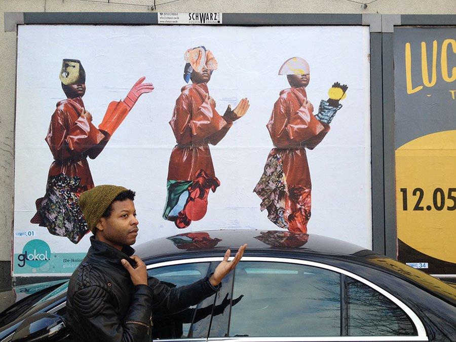 griot-mag-Him Noir | Questo artista indossa le frasi razziste che gli dicono in giro-2
