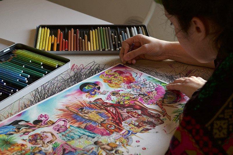 griot-mag-intervista-Noura Tafeche-mostra milano ramè © Claudia Galal