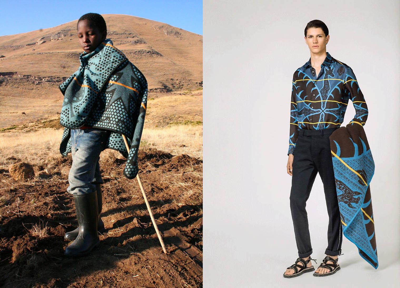 griot-mag-Louis_ Vuitton copia le coperte del popolo Basotho e i sudafricani non le mandano a dire-