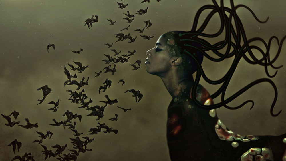 griot mag MAXXI_Road-To-Justice_Wangechi Mutu_SNIFFING