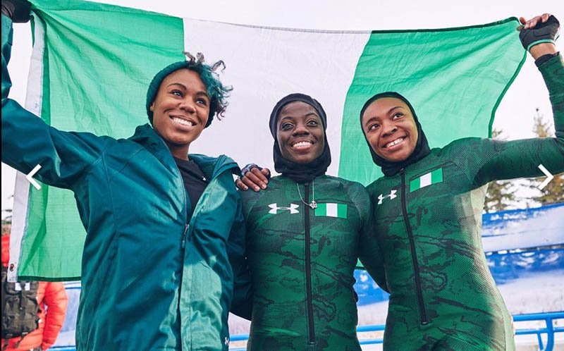 griot mag team di bob nigeria Giochi di Pyeongchang | Mai così tanti africani | Wow!