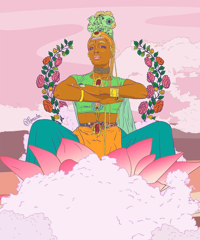 nomesdee -digital -artist -_zambia afrofuturismo-
