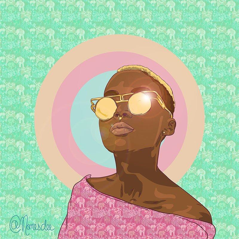 nomesdee -digital -artist -zambia afrofuturismo-