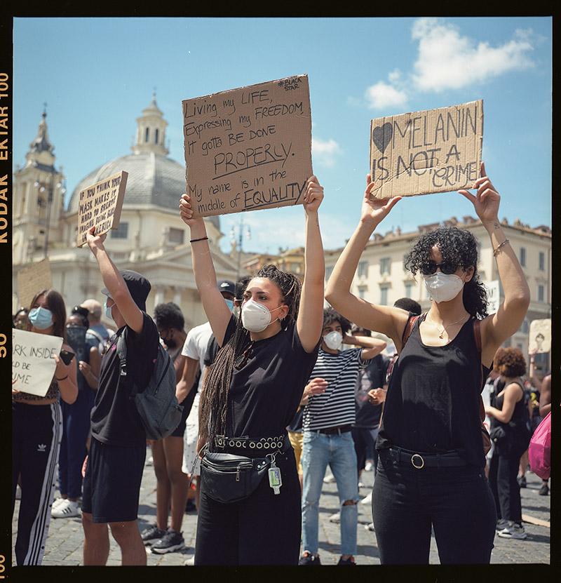 16. griot mag george floyd piazza dl popolo black lives matter manifestazione ©lilia carlone