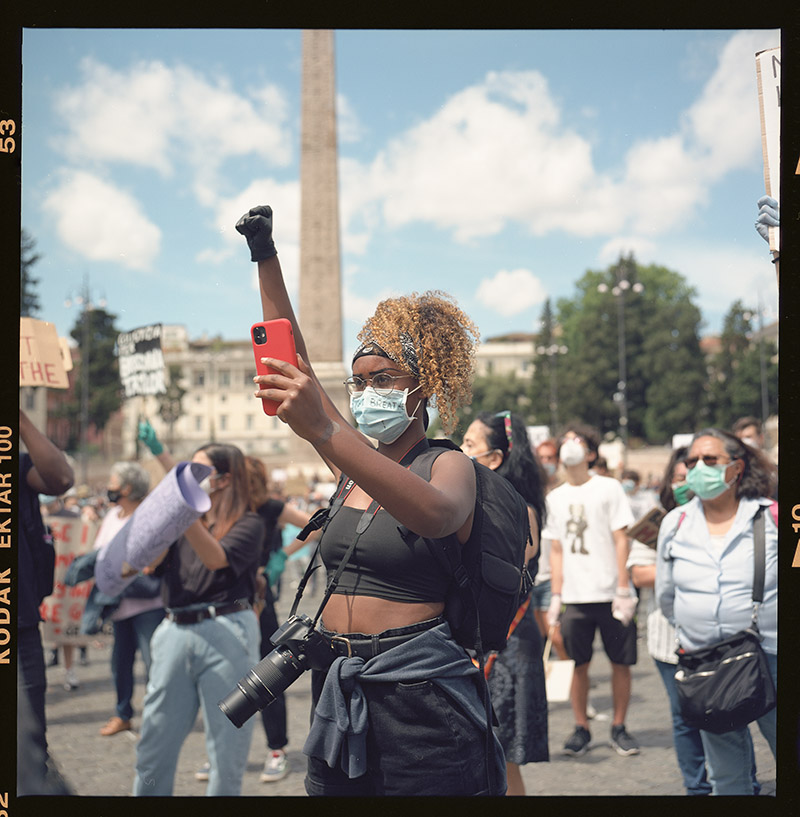 26. griot mag george floyd piazza dl popolo black lives matter manifestazione ©lilia carlone