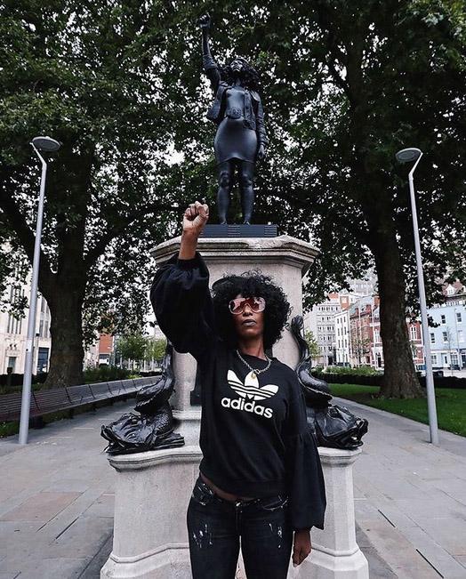 griot mag surge of power bristol colston statua Jen_Reid_marc quinn_15th_July_2020